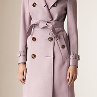 Long Lamb Suede Trench Coat