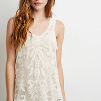 Embroidered Lace Tank