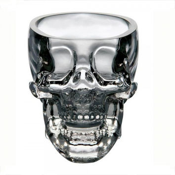 Crystal Skull Head Shot Glass Drinking Ware for Home Bar Transparent