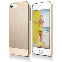 iPhone SE Case, elago Outfit MATRIX Aluminum and Polycarbonate Dual Case for the iPhone SE/5/5S - eco friendly Retail Packaging (Champagne Gold) - Spark Design Award