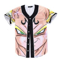 Dragon Ball Z Majin Vegeta V Neck T Shirt