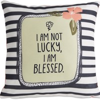 I am not lucky, I am blessed Micromink Throw Pillow