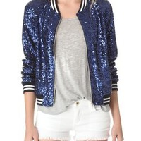 ONE by Maloom Blue Sequins Jacket | SHOPBOP