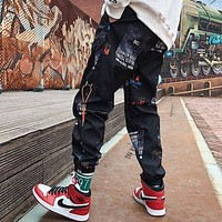Fashion Loose Joggers Print Harem Pants