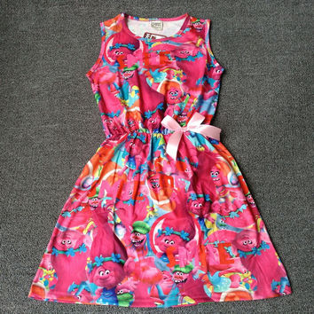 Choice of Girls Trolls Print Spring and Summer Dresses