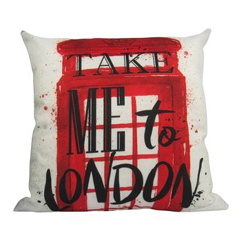 Phone Booth   London   Pillow Cover   Throw Pillow   Home Decor   Gift Idea   Happy Birthday   Gifts for Travelers   Creative Memories