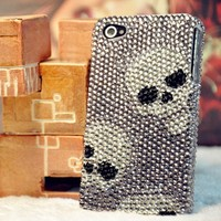 Fashion Skull Rhinestone Cover Case For Iphone 4/4s