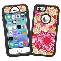 "Abstract Pink Floral ""Protective Decal Skin"" for OtterBox Defender iPhone 5s Case"