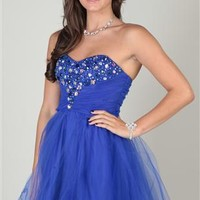 strapless dress with stone sweetheart neckline and horsehair hem