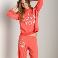 WILDFOX Kims Sweater Little Heart Spell Life Guard WIT542L26 - Free Shipping at Largo Drive