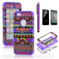051021 Totem Protective Case For Iphone 4/4s/5 with pen and sticker | fashion2