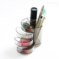 1 Pcs Plastic Creative Office Desk Storage Organizer