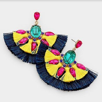 FREIDA - Double Fringe Earrings
