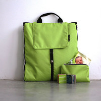 LIme Green Baby Bag and Playmat | Baby Backpack & Playmat | Baby Mat | Playmat Folded into Baby Bag | Toys Bag | Travel Bag | Baby Backpack