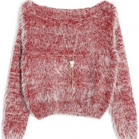 Comfy Crop Bloucle Sweater - OASAP.com