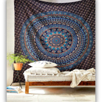 Large Hippie Tapestry Mandala Bohemian Elephant Bedspread Throw