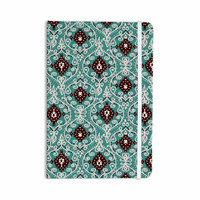 "Nika Martinez ""Bohemian Paisley Pattern"" Green Brown Digital Illustration Everything Notebook"