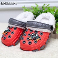 Summer Winter Little Boys Girls Mules and Clogs Garden Shoes Hollow Children Slipper PU Shower Kids Beach Sandals FF011