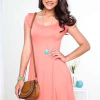 Fawna Skater Dress - Coral