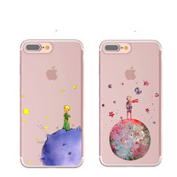 The Little Prince The Earth Space Silicone Transparent Cover Case For iPhone