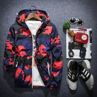 Trendy 2018 New Camouflage Jacket Men Plus Size Camo Hooded Windbreaker Jackets Military Canvas Jacket Parka Fashion Streetwear AT_94_13