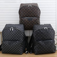 LV Louis Vuitton Classic Letter Print Large Capacity Backpack School Bag Daypack