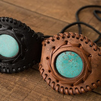 Leather Cuff w/Turquoise Stone