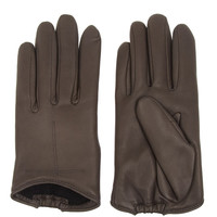 Givenchy|Short gloves in dark-gray leather|NET-A-PORTER.COM