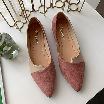 Flat Shoes Women Sweet Flats Shallow Boat Shoes Slip on Ladies Loafers Spring Women Flats Platform Shoes