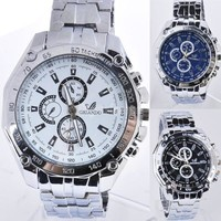 Fashion Watches Men Stainless Steel Belt Sport Business Quartz Watch Wristwatches SV000898 [7942536455]