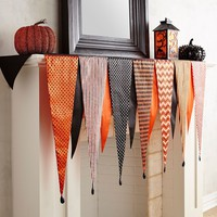Orange & Black Carnival Mantel Scarf