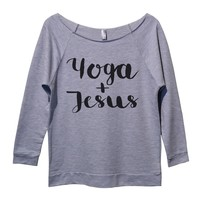 Yoga And Jesus Womens 3/4 Long Sleeve Vintage Raw Edge Shirt