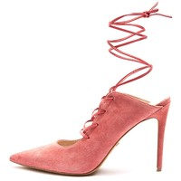 GIGGLE GHILLIE Pointed Tie-Up Heel Court Shoes | Topshop