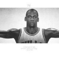 Michael Jordan Poster Wings No bird soars too high if he soars with his own wings 21x62