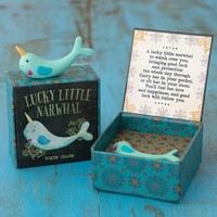 Lucky Little Narwhal Token Charm in Box