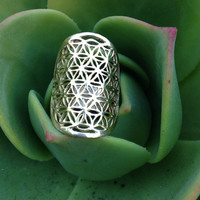 Flower of Life Galactivated Ring •  Sacred Geometry  • Ancient Patterns of Life