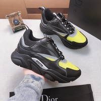 Dior Black/gray Fashion Casual Sneakers Sport Shoes Size 36-45