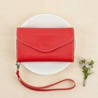 Princess' Chattel Cell Phone Wallet Wristlet in Rouge | Sincerely Sweet Boutique