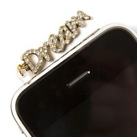 Crystal Dream Cell Phone Plug  | Claire's