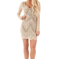 Coco and Cream Lace Long Sleeve Dress