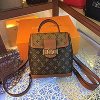 LV Louis Vuitton MONOGRAM CANVAS DAUPHINE BACKPACK BAG