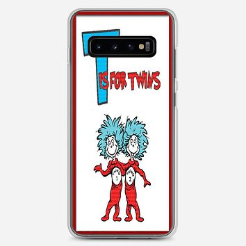 Thing 1 And Thing 2 Samsung Galaxy S10 Plus Case