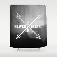 Heaven on Earth (B&W) Shower Curtain by Josrick | Society6