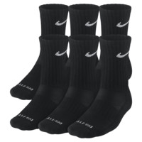 Nike Dri-FIT Cushioned Crew Socks (Medium/6 Pairs) Size M (Black)