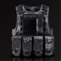 same style, special soldier tactical vest multi-functional camouflage vest lightweight cs equipment   bulletproof body armor
