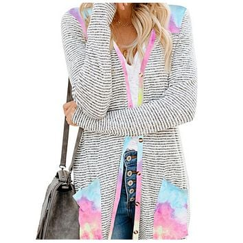 Explosion style hot sale fashionable loose mid-length sweater