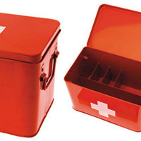 Red Cross Inspired Box | FirstAid Boxes | RetroPlanet.com