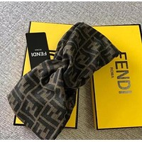 FENDI Fashion Women Men Retro Logo Jacquard Headband Accessory