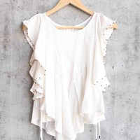 free people - tiny bells tank top - ivory
