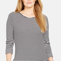 Plus Size Women's Lauren Ralph Lauren Double Face Stripe Shirt,